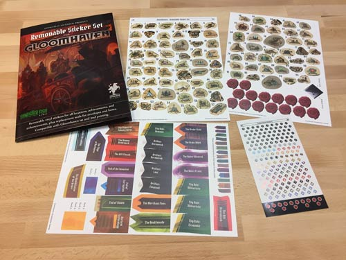 Gloomhaven Removable Sticker Set (Sinister Fish Games)