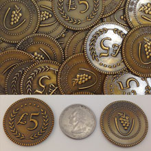 12-Piece Set of Metal Lira Coins (Gold Color)