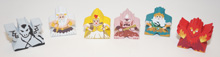 1-of-each of all 6 Greek Mythology Character Meeples from Kickstarter (6 pcs)