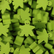 Green Alien Mega Meeples (19mm)