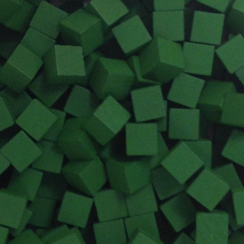 Green Wooden Cubes