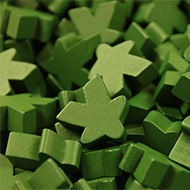 Green Super Mega Meeples (24mm)