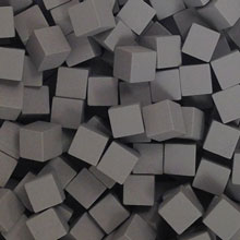 Grey Wooden Cubes (8mm)