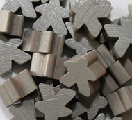 Grey Meeples (16mm)
