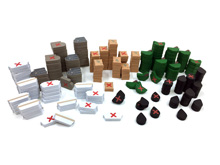 220-Piece Set of Small 2-Sided Resources for Indonesia