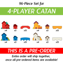 96-Piece 4-Player Upgrade Kit (Compatible with Catan) (Kickstarter Pre-Order)
