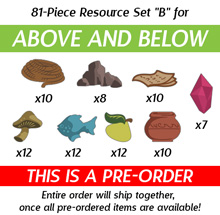 "81-Piece Resource Upgrade, Set ""B"" for Above and Below (Kickstarter Pre-Order)"