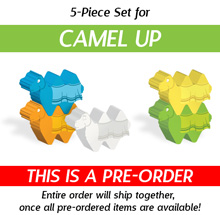 5-Piece Set of Character Camels (Compatible with Camel Up) (Kickstarter Pre-Order)