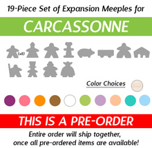 Any ONE 19-Piece Set of Meeples (Compatible with Carcassonne) (Kickstarter Pre-Order)