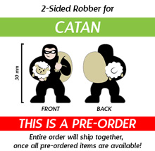 Large 30mm 2-Sided Robber (Compatible with Catan) (Kickstarter Pre-Order)
