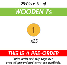 25-Piece Set of Wooden 1's from The Manhattan Project: Energy Empire (Kickstarter Pre-Order)