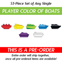 Any Single Player Color of Ticket to Ride: Rails & Sails Boats (53 Pieces) (Kickstarter Pre-Order)