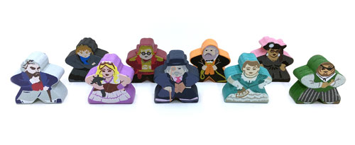 Kill Dr. Lucky Meeple Set (9-Piece Set)