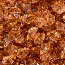 Brown (Translucent) Acrylic Gems (Large)