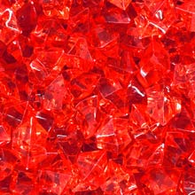 Red (Translucent) Acrylic Gems (Large)