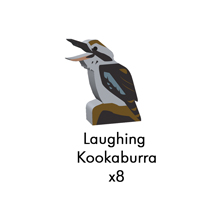 PRE-ORDER: Laughing Kookaburra Meeples (8-pc set)