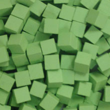 Lime Green Wooden Cubes (8mm)
