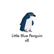 PRE-ORDER: Little Blue Penguin Meeples (8-pc set)