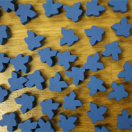 Bulk Blue Misfit Meeples (16mm) - Bag of 500!