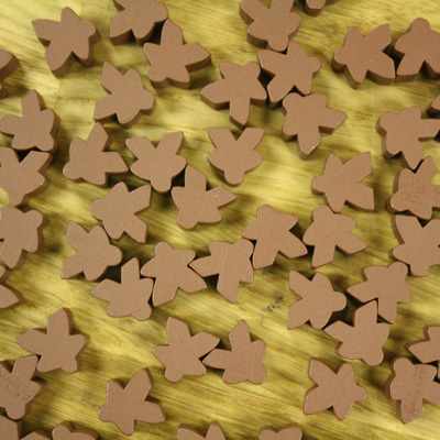 Bulk Misfit Meeples (16mm) - Bags of 500, Your Color Choice!