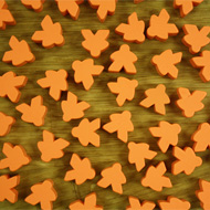 Bulk Orange Misfit Meeples (16mm) - Bag of 500!