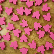Bulk Pink Misfit Meeples (16mm) - Bag of 500!