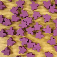 Bulk Purple Misfit Meeples (16mm) - Bag of 500!
