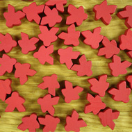 Bulk Red Misfit Meeples (16mm) - Bag of 500!