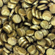 Gold Marbleized Plastic Discs (25 pcs)