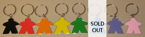Meeple Keychain (Choose your color!)