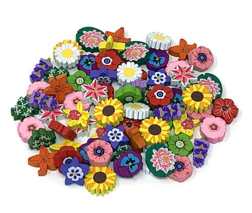 PRE-ORDER: 69-piece set of Nectar tokens for Wingspan: Oceania (Assorted, 15 real-life flower designs) - est. ship date is May 2021