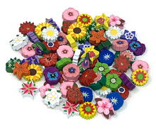 69-piece set of Nectar tokens for Wingspan: Oceania (Assorted, 22 real-life flower designs)