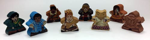 Meeplesource Com Character Meeples For Near And Far 8 Pcs