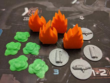 3D Printed Game Goodies for Nemesis (13 piece set)