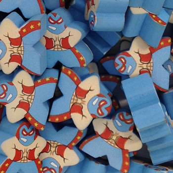 Blue Luchador - Character Meeple
