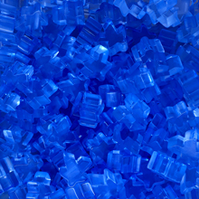 """Blue"" (Translucent) Acrylic Meeples (16mm) - April 2018 Print Run"