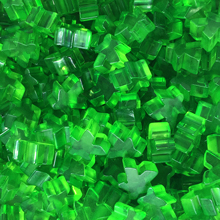 """Green"" (Translucent) Acrylic Meeples (16mm) - April 2018 Print Run"
