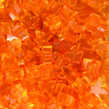 """Orange"" (Translucent) Acrylic Meeples (16mm) - April 2018 Print Run"