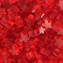 """Red"" (Translucent) Acrylic Meeples (16mm) - April 2018 Print Run"