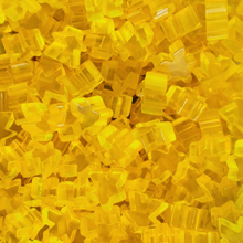 """Yellow"" (Translucent) Acrylic Meeples (16mm) - April 2018 Print Run"