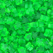 """Green"" (Translucent) Acrylic Mini Meeples (12mm) - April 2018 Print Run"