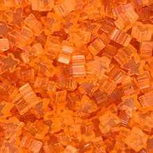 """Orange"" (Translucent) Acrylic Mini Meeples (12mm) - April 2018 Print Run"