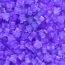 """Purple"" (Translucent) Acrylic Mini Meeples (12mm) - April 2018 Print Run"