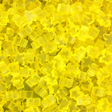 """Yellow"" (Translucent) Acrylic Mini Meeples (12mm) - April 2018 Print Run"
