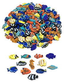 240-piece Painted Wooden Fish Meeples (6 Players) for Oceans