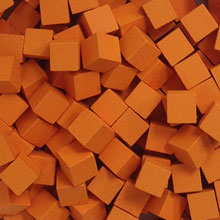 Orange Wooden Cubes (8mm)