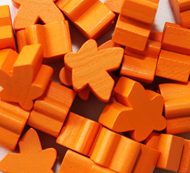 Orange Meeples (16mm)