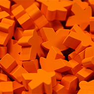 Orange Super Mega Meeples (24mm)