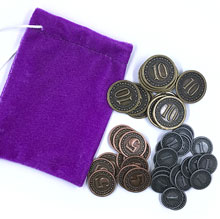 Set of Metal Coins for Orleans (51 pcs) - (Tasty Minstrel Games)