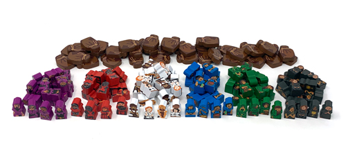 152-piece Set of Character Meeples and Provisions for Paladins of the West Kingdom